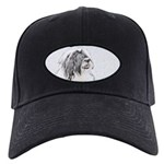 Bearded Collie Black Cap with Patch