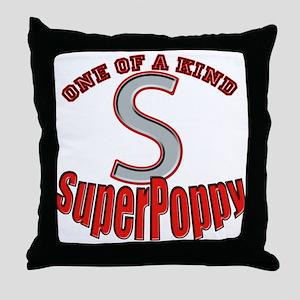 SUPER POPPY Throw Pillow