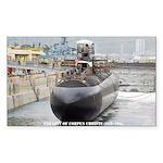 USS CITY OF CORPUS CHRISTI Sticker (Rectangle)
