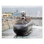 USS CITY OF CORPUS CHRISTI Small Poster