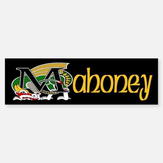 Mahoney Celtic Dragon Bumper Bumper Bumper Sticker