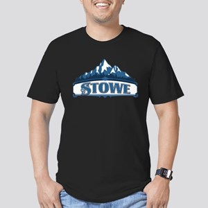 Stowe Blue Mountain Men's Fitted T-Shirt (dark)