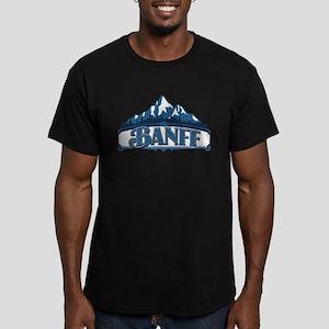 Banff Blue Mountain Men's Fitted T-Shirt (dark)