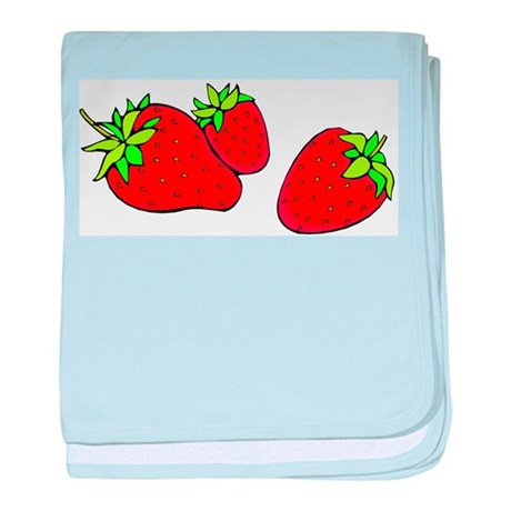 Strawberry19 baby blanket