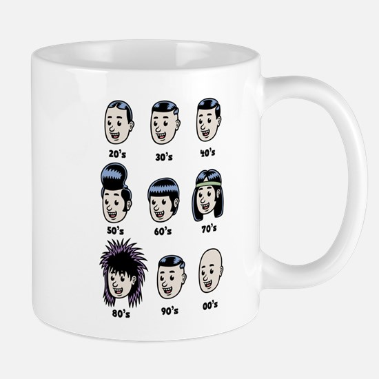 History of Mens Hair Mug