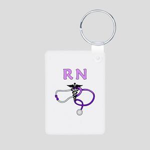 RN Nurse Medical Aluminum Photo Keychain