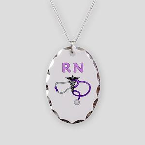 RN Nurse Medical Necklace Oval Charm