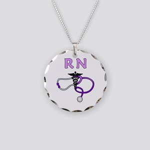 RN Nurse Medical Necklace Circle Charm