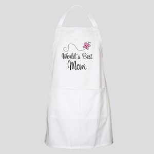 World's Best Mom Butterfly Apron For Her