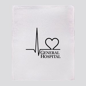 I Love General Hospital Throw Blanket