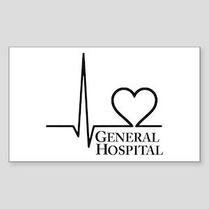 I Love General Hospital Sticker (Rectangle)