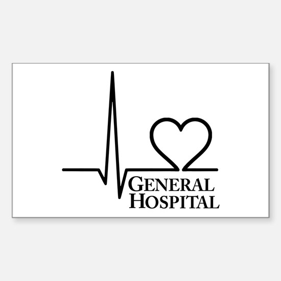 I Love General Hospital Sticker (Rectangle)
