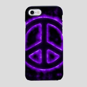 Purple Peace Sign iPhone 7 Tough Case