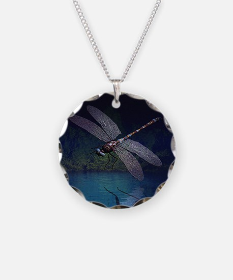 Dragonfly at Night Necklace