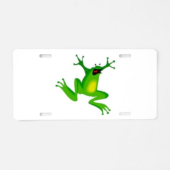 Feeling Froggy Aluminum License Plate