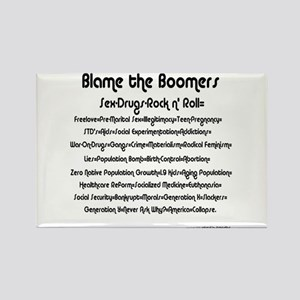 Blame the Boomers Rectangle Magnet