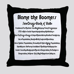 Blame the Boomers Throw Pillow