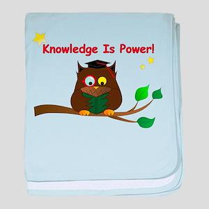 Wise Owl baby blanket