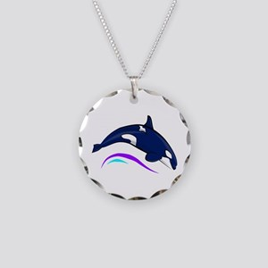 Jumping Orca Necklace Circle Charm