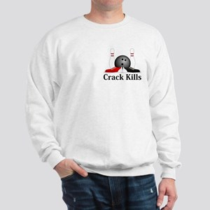 Crack Kills Logo 15 Sweatshirt Design Front Pocket