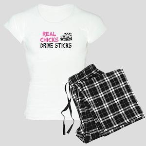 Real Chicks Drive Sticks Women's Light Pajamas