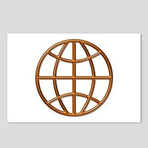 """Mahogany Globe"" Postcards (Package of 8)"