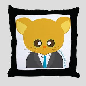 """""""career mousey 4"""" Throw Pillow"""