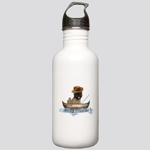 Cairn Terrier Fishing Stainless Water Bottle 1.0L