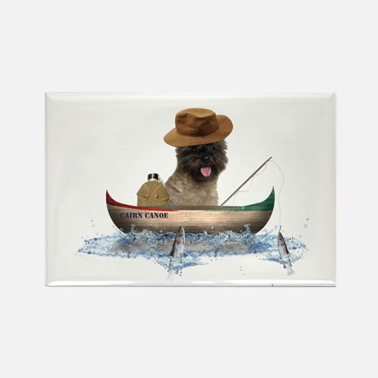Cairn Terrier Fishing Rectangle Magnet