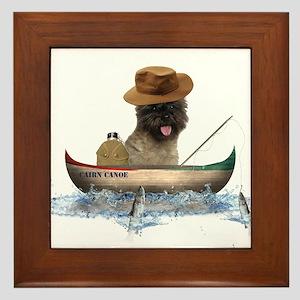 Cairn Terrier Fishing Framed Tile