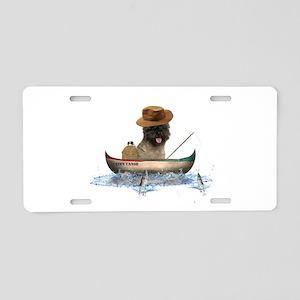 Cairn Terrier Fishing Aluminum License Plate