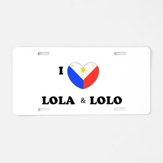 Funny Lola Aluminum License Plate