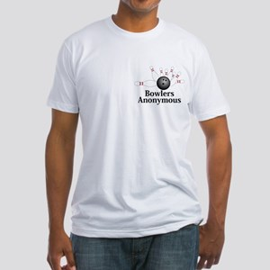 Bowlers Anonymous Logo 2 Fitted T-Shirt Design Fro