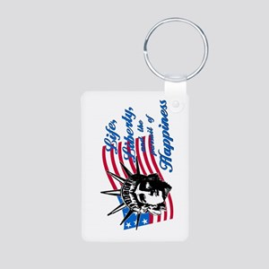 Pursuit of Happiness Aluminum Photo Keychain
