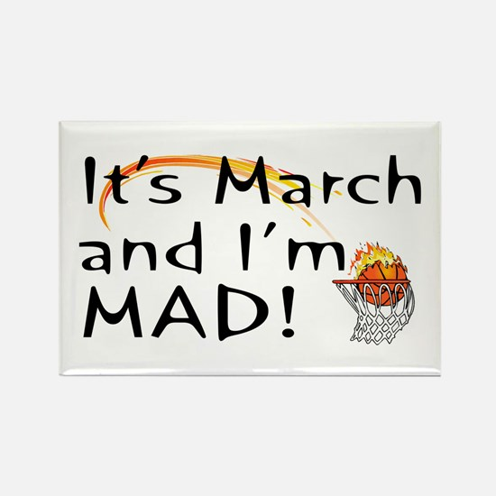 Mad About March Rectangle Magnet