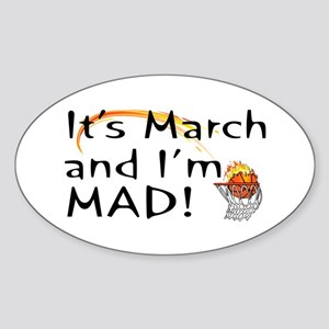 Mad About March Oval Sticker
