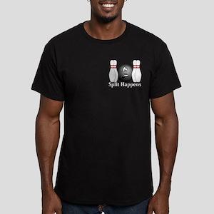 Split Happens Logo 4 Men's Fitted T-Shirt (dark) D