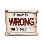WRONG Postcards (Package of 8)