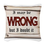 WRONG Woven Throw Pillow
