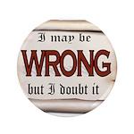 WRONG Button