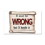 WRONG Car Magnet 20 x 12