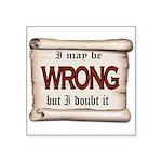 WRONG Sticker