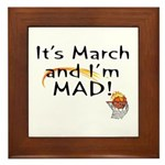 Mad about March Framed Tile