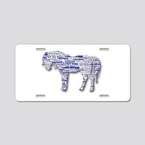 I LOVE HORSES Aluminum License Plate