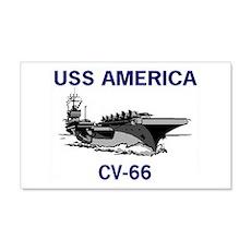 USS AMERICA CV-66 22x14 Wall Peel