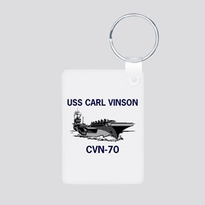 USS CARL VINSON Aluminum Photo Keychain