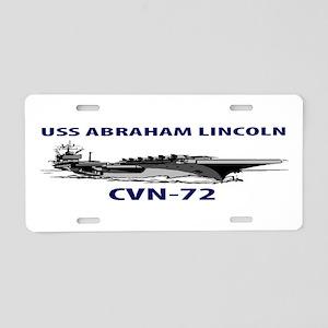 USS ABRAHAM LINCOLN Aluminum License Plate