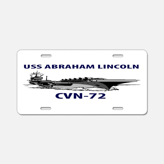 USS ABRAHAM LINCOLN Aluminum License Plate