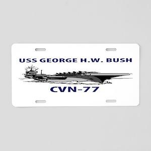 USS BUSH Aluminum License Plate