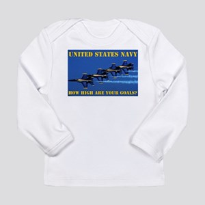 NAVY Long Sleeve Infant T-Shirt